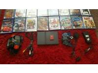 Play station 2 and games retro