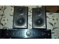 Stereo Amplifier+Speakers 90 Watt