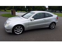 2004 Mercedes C200 KOMPRESSOR SE AUTO, 3-door Coupe, Leather interior,A/C, Alloy wheels