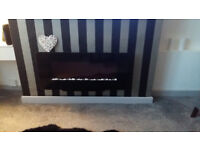 Black Gloss Wallmounted Electric Fire – New Immaculate Condition! (Quick Sale Needed)
