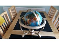 Large ceramic desk globe