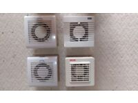 100mm bathroom extractor fans with adjustable timers
