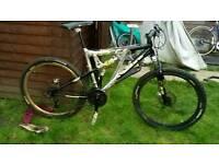 Alloy rare mountain bike