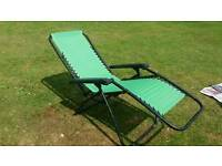 Reclining Garden Chairs Pair