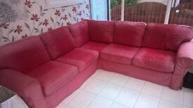 Red Corner (L Shaped) Suite