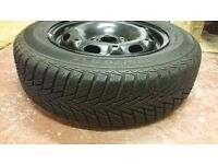 VW Polo Winter Tyres (incl steel wheels) 165/70 R14 81T Continental Winter Contact TS800