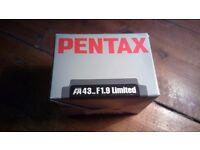 PENTAX FA 43mm F1.9 LIMITED lens