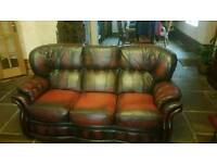 Ox blood chesterfield sofa 3+1 seater