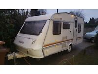 ELDDIS WISP 5 BERT IN GOOD CLEAN CONDITION WITH HOT AND COLD WATER SHOWER CASSETTE TOILET .