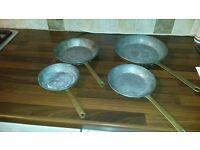Set of Copper Fry Pans