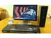 SAVE £40 HP 8000 Elite Business PC Desktop Computer & HP Widescreen 20 & LCD LAST ONE