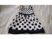 Pretty black and white party dress 18-24months