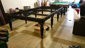 full size antique cast iron snooker table origional with local history