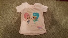 Girls shimmer and shine tshirt 3-4 years