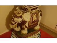 Selection of ceramic elephants