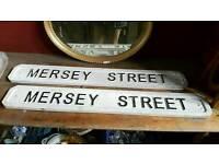 2 (Liverpool?) Street signs