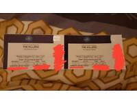 Selling TWO Killers VIP HOT Tickets