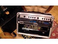 REVERB / COMPRESSOR / EQUALISER / RACK FLIGHT CASE - Live P.A. or Studio - All dual channel!
