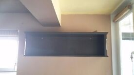 Dark Brown Wall Bookcase - real wood