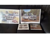 selection of MK2 and MK1 escort rally prints