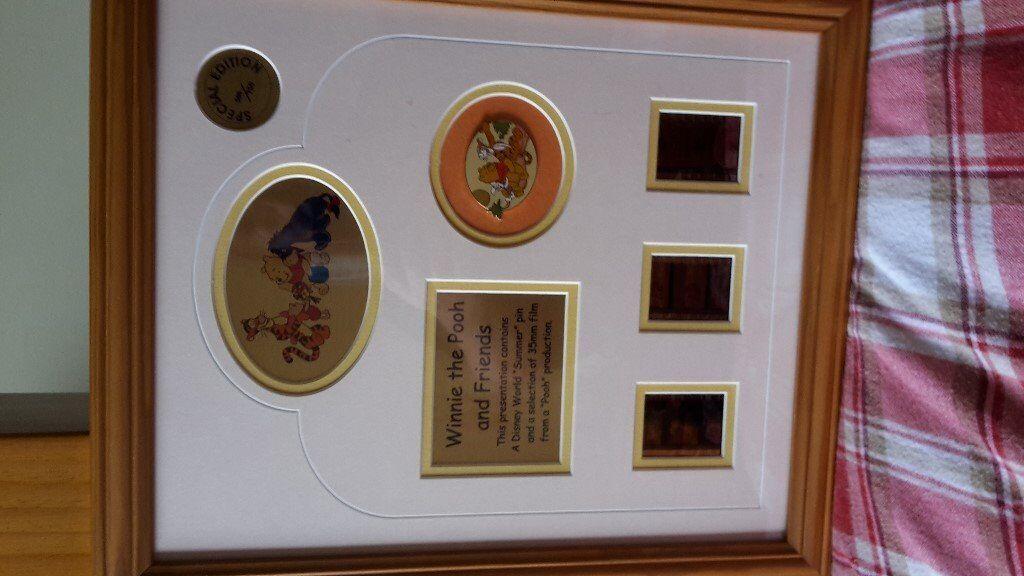 winnie pooh limited edition filmcell presentation frames in wishaw