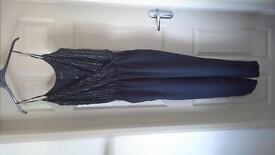 black next jumpsuit size 8 never been worn
