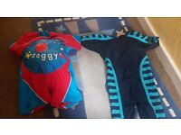 2 boys swimming wetsuit costume 12-18m and 1-2y