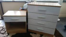 Drawers and bedside table