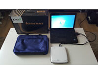 LENOVO S205 NETBOOK, LG EXTERNAL DVD-REWRITER AND CARRY CASE FOR SALE