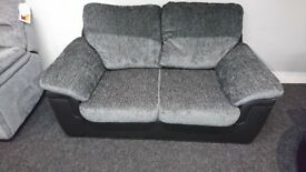 New - leather/fabric 2seater -ex display