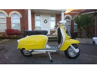 "LAMBRETTA TV175 SERIES 3, 1962 AS NEW GENUINE ITALIAN SCOOTER ""SIMPLY THE BEST"" FMI GOLD PLAQUE"