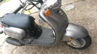 just like new. scooter hardly used. in great shape, only 12 km