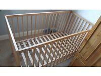 Ikea wooden cot