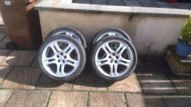 4 off Subaru Impreza Alloy Wheels 5x100PCD 17x7JJ ET55