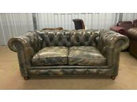 Stunning HALO ASQUITH 2 seater leather chesterfield sofa RRP £2200 bargain £900