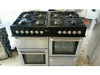 Range gas cooker and electric oven flavel