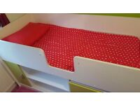 Kids Single Combo Bed With Chester Draw, Cabinet & Keyboard Slide Out Draw