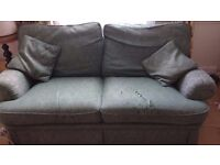 FREE 3 person sofa, clean and comfortable but worn fabric - fine if covered