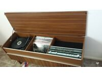 Marconiphone Record Player with some LPs