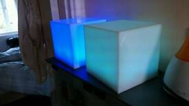"2X 6"" cube lights. Colour changing."