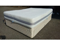 King size bed Divan style inc memory mattress. Quick FREE delivery Very clean, real quality Comfort