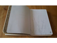 A5 white hardcase notepad/journal