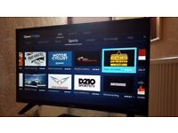 LUXOR 43-inch SUPER Smart 4K UHD LED TV,built in Wifi,Freeview HD, screen Mirroring