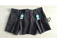 NEW 2 Pairs of boys' school cargo shorts 3-4 years
