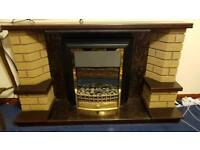 FIRE SURROUND AND ELECTRIC FIRE TO MATCH