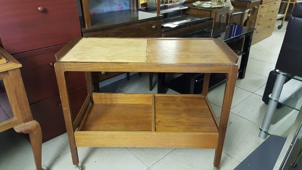 """Remploy Mid Century Trolleyin Bearsden, Glasgow - Remploy Mid Century Trolley L 86 D 45 H 69 cm FOLLOW US ON INSTAGRAM relovedfglasgow FOR A PREVIEW OF Our""""just In"""" ITEMS BEFORE THEY ARE ADVERTISED Delivery Available Reloved Furniture 15 Temple Rd Anniesland G13 1EL We are open 7 days a week Mon..."""