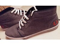 Size 9 Grey Fred Perry Shoes