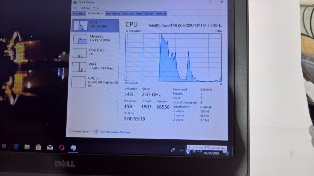 FAST laptop Dell Latitude E5570 i5-6610 with SSD drive   in Newcastle, Tyne  and Wear   Gumtree