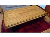 Beautiful large solid oak Coffee table