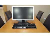 "Dell 19"" Flat screen Monitor with Dell keyboard"